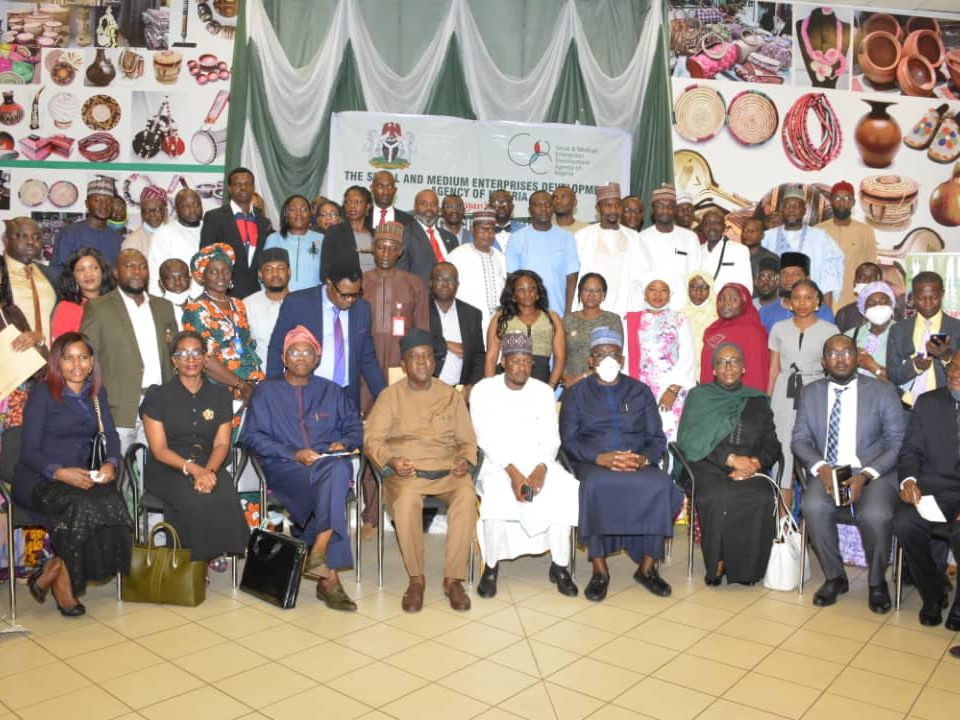 Group Photo of the DG SMEDAN AND ACCREDITED BDPS'S